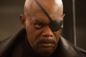 """Marvel's Captain America: The Winter Soldier""..Nick Fury (Samuel L. Jackson)..Ph: Zade Rosenthal..? 2014 Marvel.  All Rights Reserved."